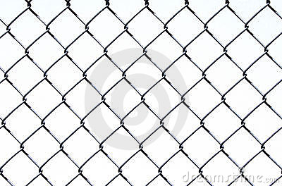 Chain Link on White