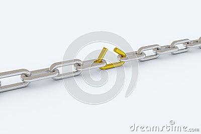Chain lose link