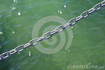 Chain over water