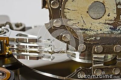 Chain saw and hard drive