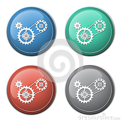 Free Chain With Cogwheels Icon Stock Image - 48612491