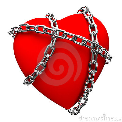Free Chained Heart Royalty Free Stock Photography - 3931967