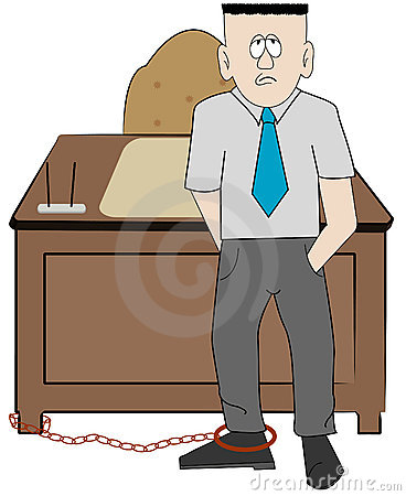Chained to the job