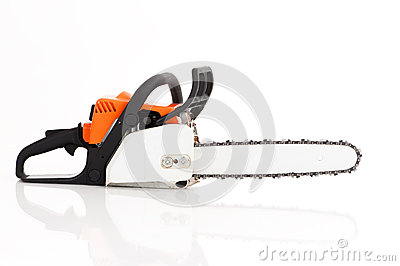Chainsaw isolated on white