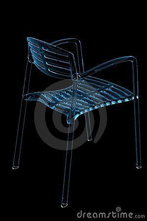 Chair (3D xray blue)