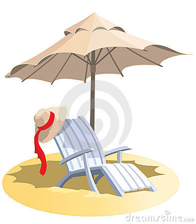 Free Chair And Umbrella Stock Photos - 7123233