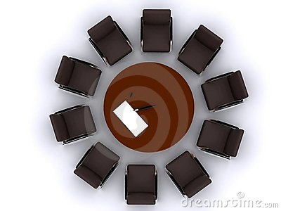 Chair around table