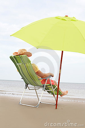 Beach Chairs on Chair On The Beach Stock Photo   Image  10917400