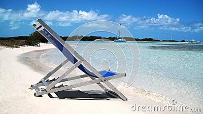 Chair and  beach