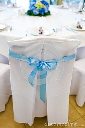Chair, beautifully decorated with ribbon