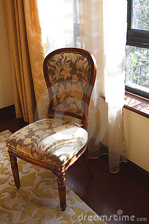 A chair in bedroom