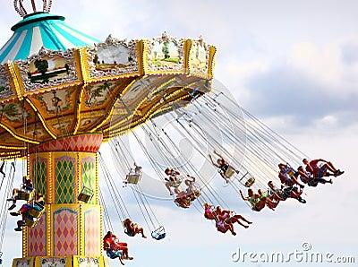 Chair carousel Editorial Stock Photo