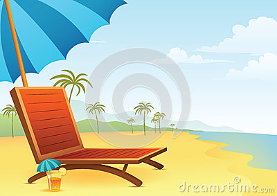 Chair and Cocktail on the beach