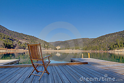 Chair on a dock