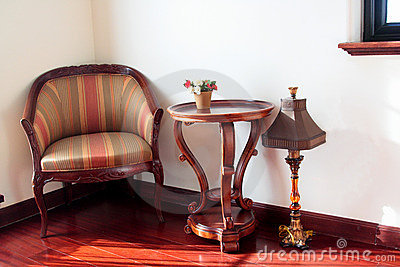 A chair in drawing room