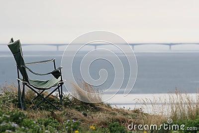 Chair face to Confederation Bridge,Canada
