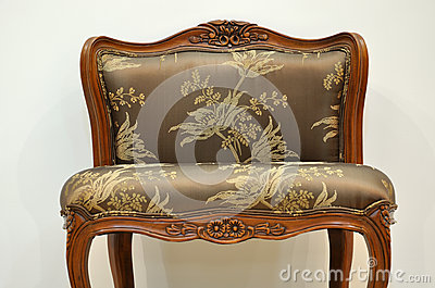 Chair with flowery style