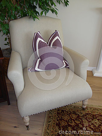 Chair with Lavender Pillow