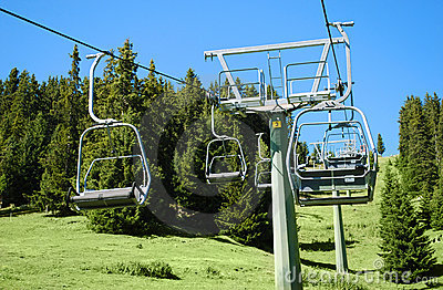Chair lift and landscape
