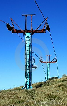 Chair lift on a mountain