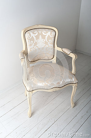Chair with luxurious upholstery