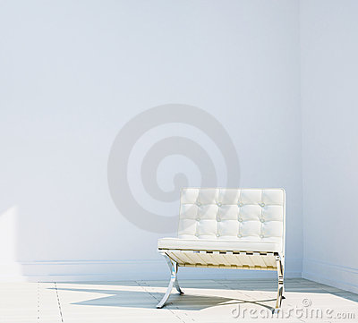 Chair in modern comfortable interior