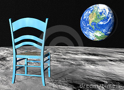 Chair on the moon