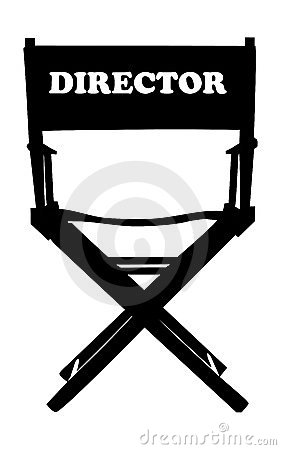 Free Chair Movies Director Stock Image - 3347261
