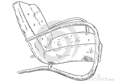 Chair old Vector Illustration