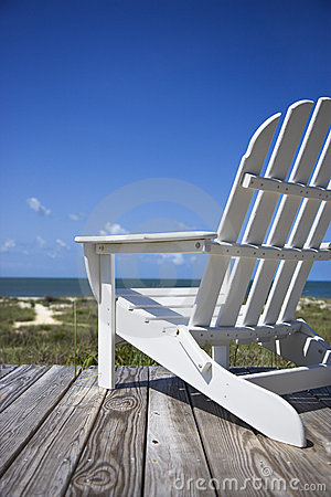 Free Chair On Beach Deck. Royalty Free Stock Photos - 3422508