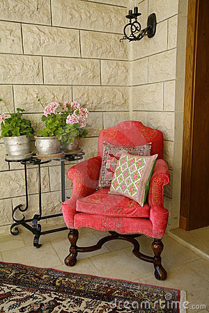 Chair and plant in corner