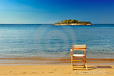 Chair on a sandy beach
