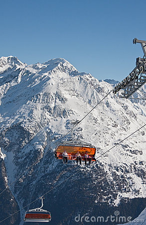 Chair Ski Lift Stock Images - Image: 21487024