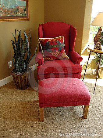 Chair with southwestern pillow