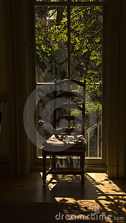 Chair with sunlight from window stock photos image 3948793 for Chair next to window