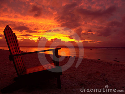 Chair and Sunset