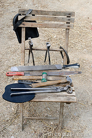 Chair with tools