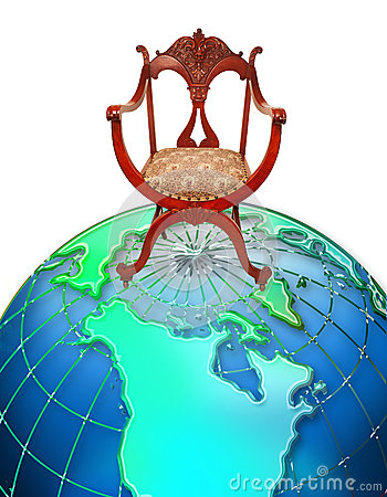 Chair on top of world