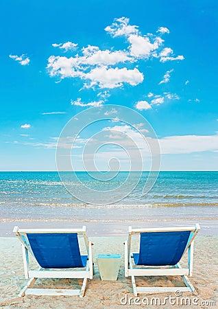 Chair at white beach