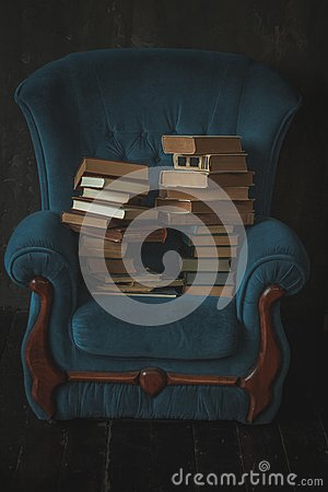 Free Chair With Books Royalty Free Stock Photography - 112557467