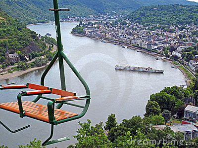 Chairlift above river