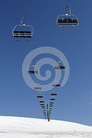 Chairlift on the mountain