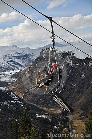 Chairlift saneczkarski nowy Queenstown Zealand Obraz Stock Editorial