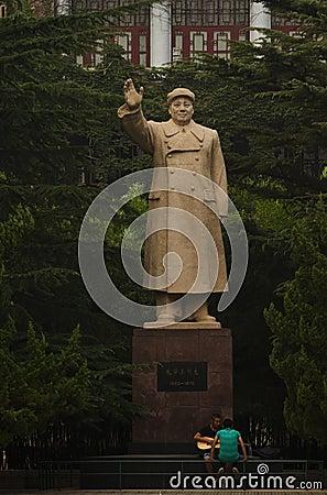 Chairman Mao s Statue Editorial Stock Photo