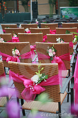 Free Chairs And Flowers Stock Photography - 4929432