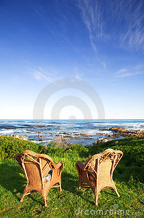 Free Chairs At The Sea Stock Photography - 3017162