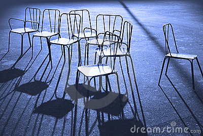 Chairs in blue
