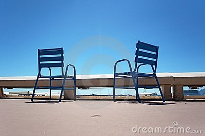 Chairs on the Croisette in Cannes
