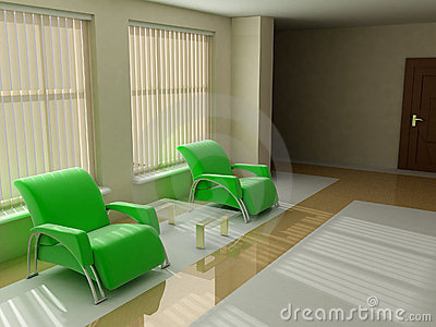 Chairs in modern living room