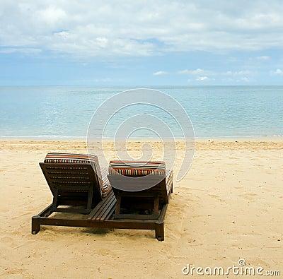 Free Chairs On Beach Stock Photo - 21744140